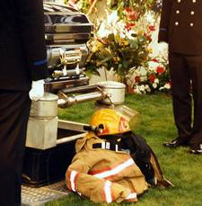 Jack's fire service burial